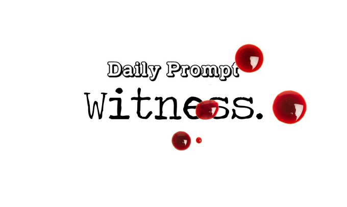 Day 107 Daily Prompt – Witness – ShortStory